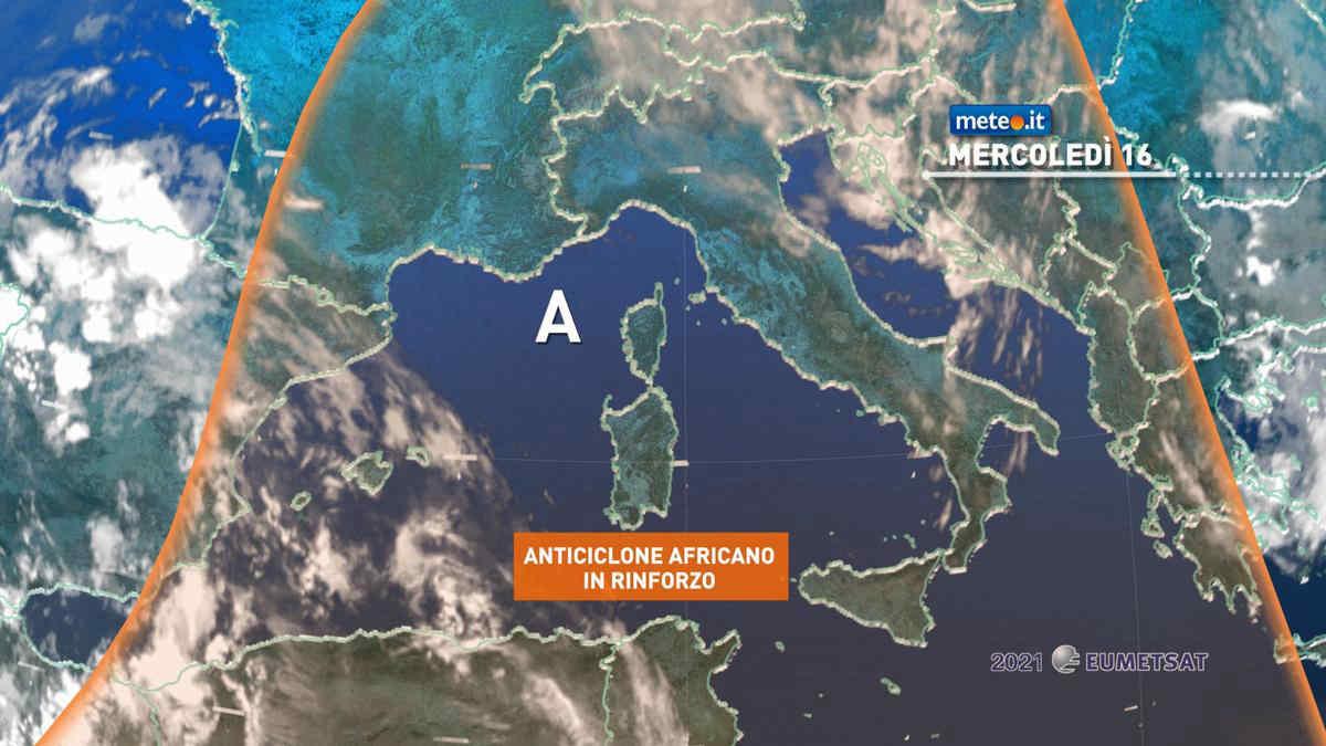 Meteo, 16 giugno con caldo in aumento sull'Italia