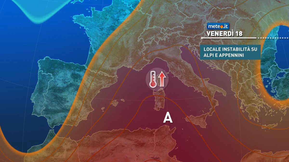Meteo 18 giugno, l'ondata di caldo entra nel vivo: tanta afa e temperature in aumento