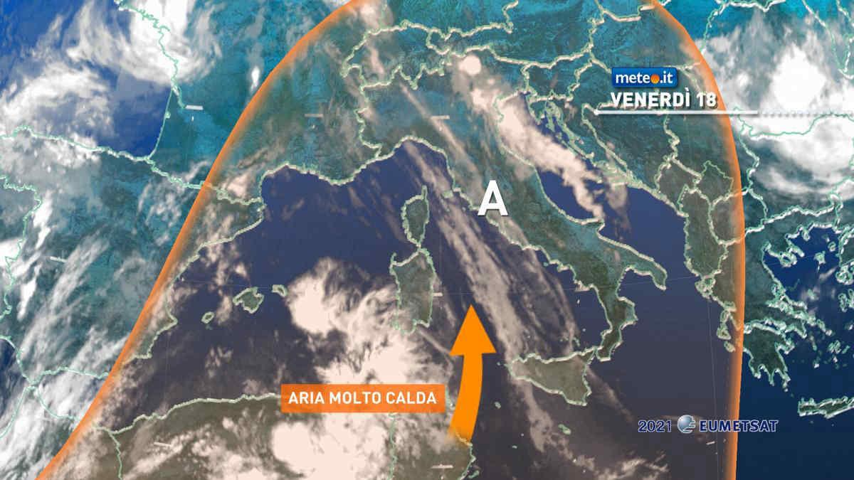 Meteo, 18 giugno con caldo intenso e afa sull'Italia