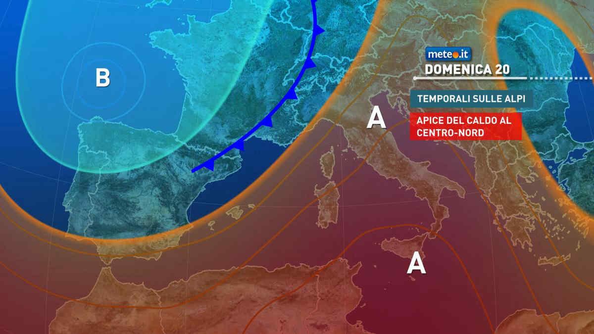 Meteo, domenica 20 giugno caldo africano sull'Italia