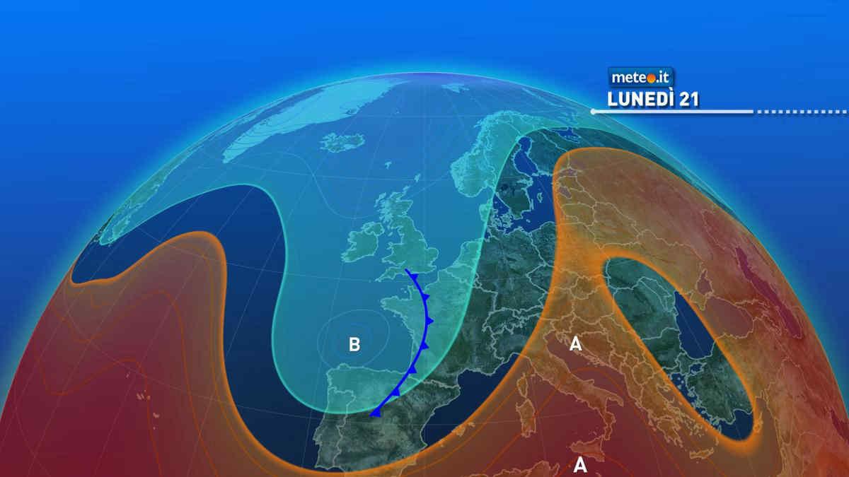 Meteo: 21 giugno con caldo intenso al Sud, qualche temporale al Nord