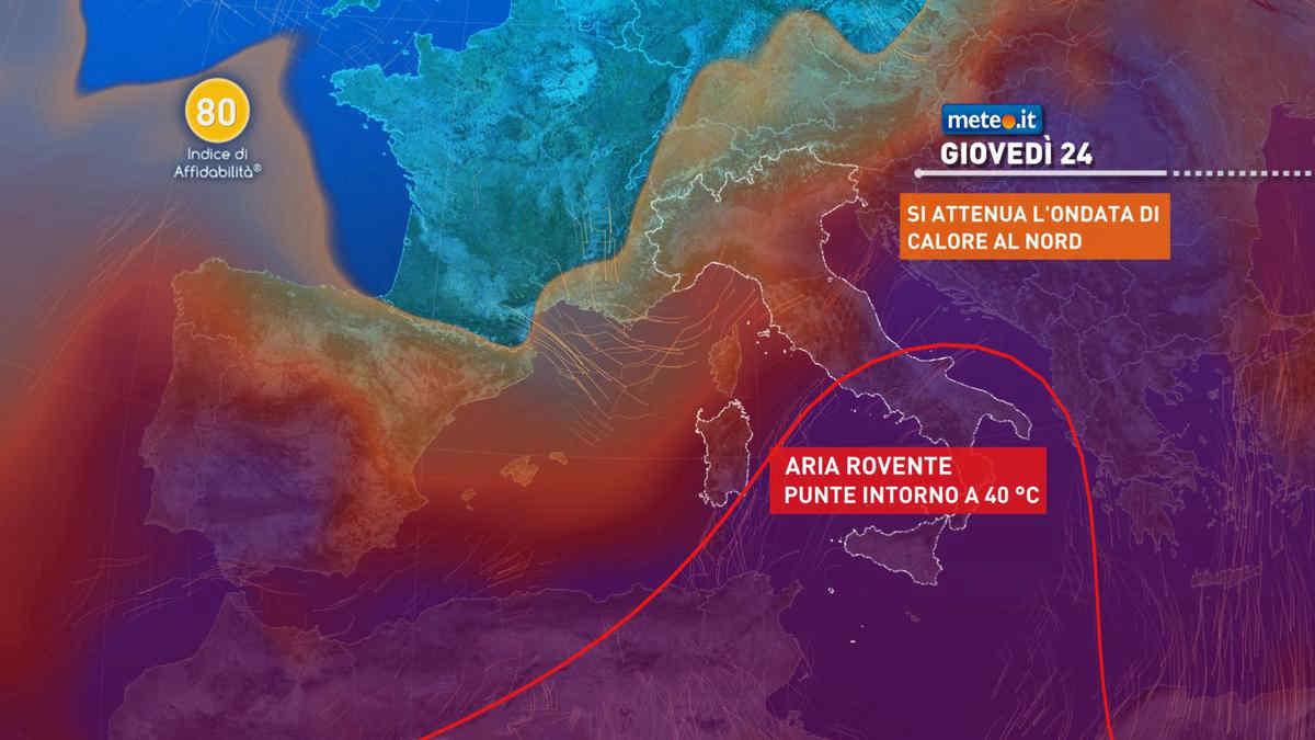 Meteo, clima bollente anche dopo il 23 giugno: punte oltre i 40 gradi