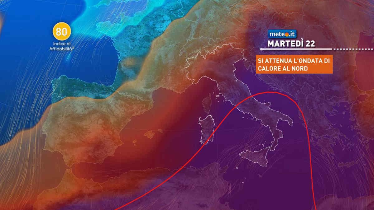Meteo: al Sud caldo africano anche dopo il 22 giugno, tempo più instabile al Nord