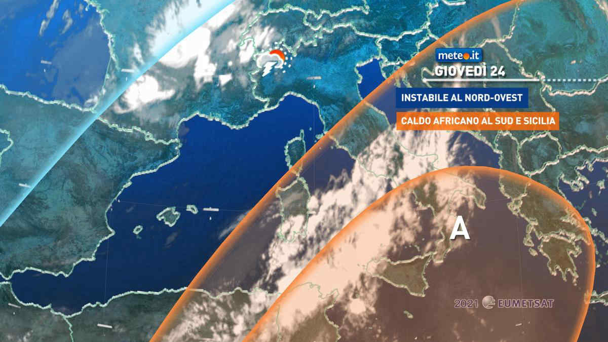 Meteo, giovedì 24 clima ancora rovente al Sud e in Sicilia: temperature oltre i 40 gradi