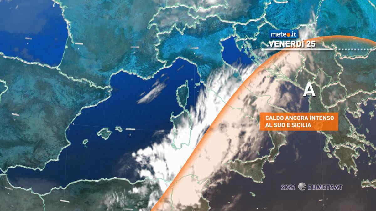 Meteo, venerdì 25 giugno qualche temporale al Nord, caldo in lieve diminuzione