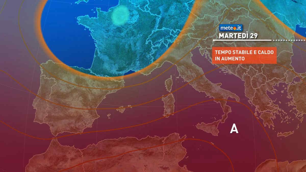 Meteo, 29 giugno con caldo intenso soprattutto al Sud: punte intorno ai 40 gradi