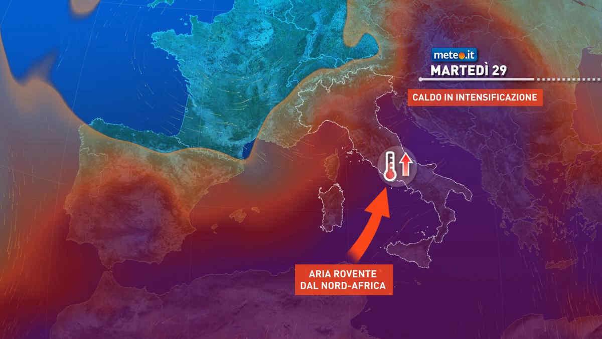 Meteo, il mese di giugno si chiude con caldo intenso: punte intorno ai 40 gradi