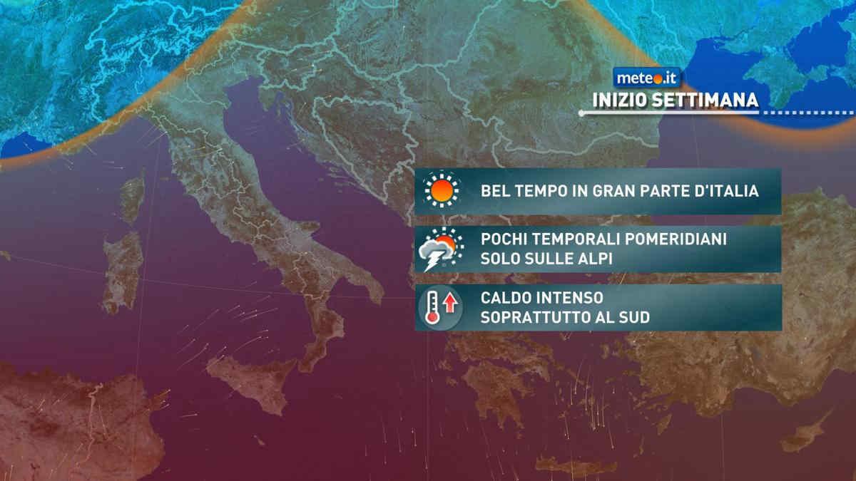 Meteo, fine giugno rovente: martedì 29 caldo intenso e temporali sulle Alpi