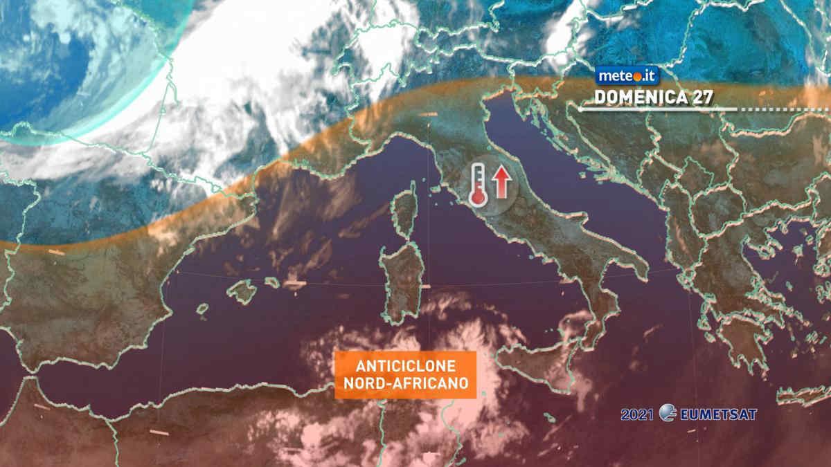 Meteo, domenica 27 sole e caldo in aumento ma con il rischio di temporali sulle Alpi