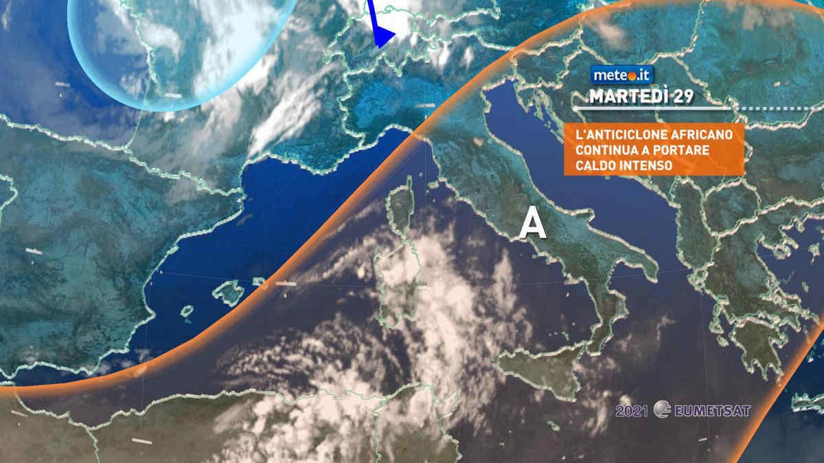 Meteo, martedì 29 giugno Italia rovente. Picchi di 40°C al Sud e Sicilia
