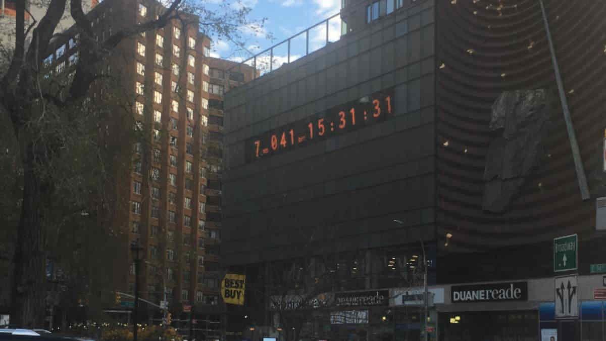 A Roma è stato installato il quarto climate clock del mondo