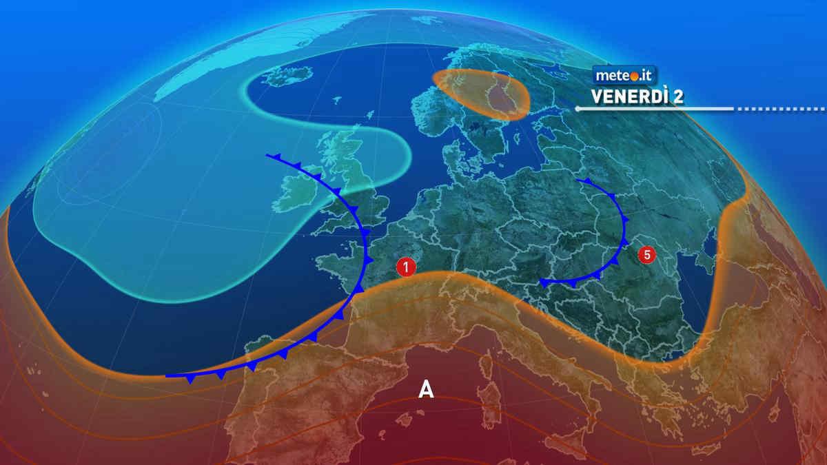 Meteo, oggi venerdì 2 luglio, fine dell'intensa ondata di caldo. Rovente solo la Sicilia