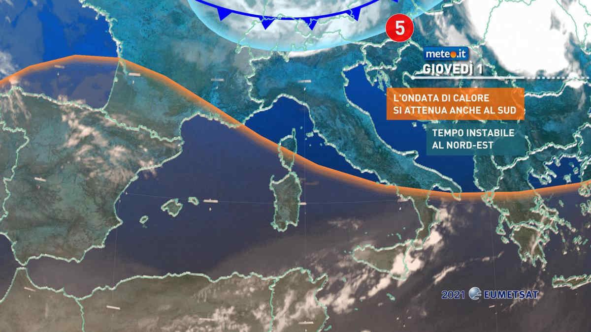 Meteo, da giovedì 1 luglio ultime fiammate sull'estremo Sud e poi stop al clima bollente