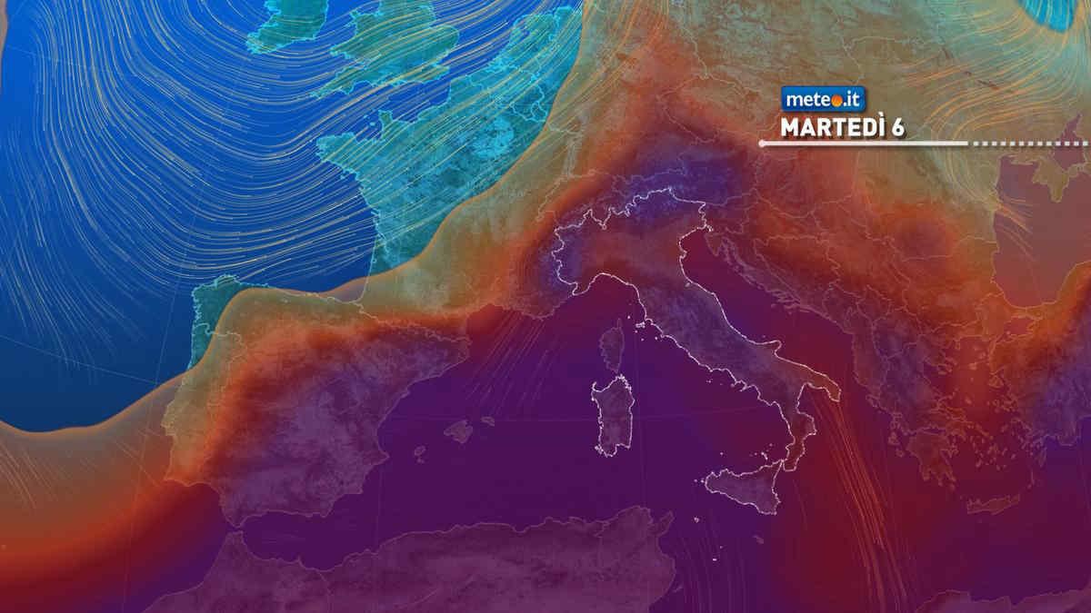 Meteo, da martedì 6 luglio nuova ondata di caldo intenso