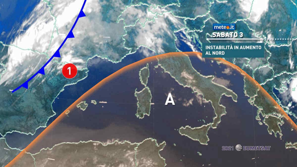 Meteo, 3 luglio caldo al Sud e instabile al Nord