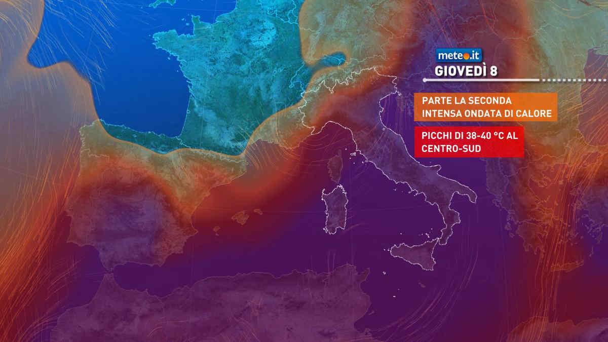 Meteo, giovedì 8 luglio apice del caldo al Centro-sud: punte di 40 gradi
