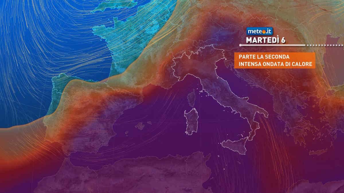 Meteo, dal 6 luglio nuova ondata di caldo africano sull'Italia