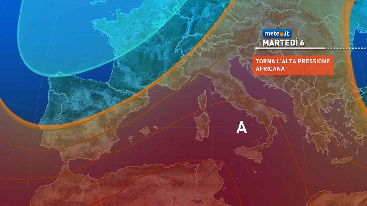 Meteo, 6 luglio con caldo africano in intensificazione sull'Italia