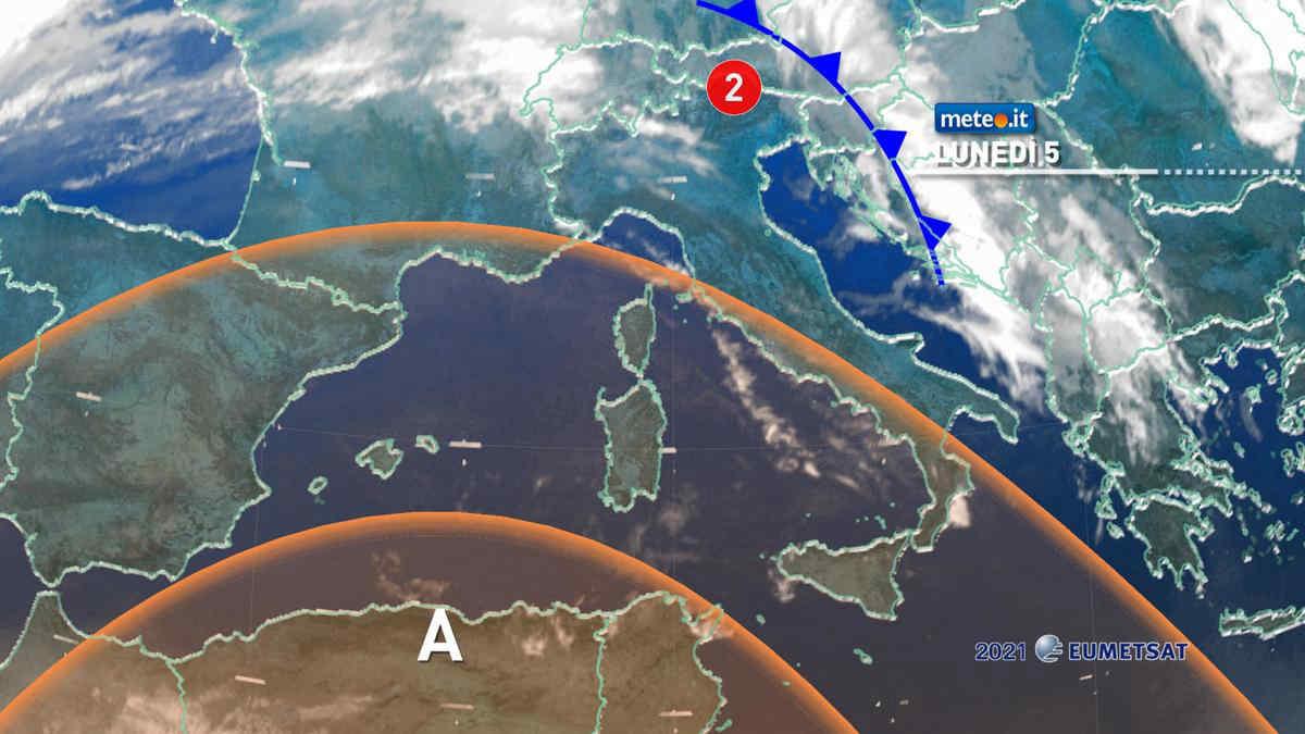 Meteo, 5 luglio con il sole poi torna l'Anticiclone Africano