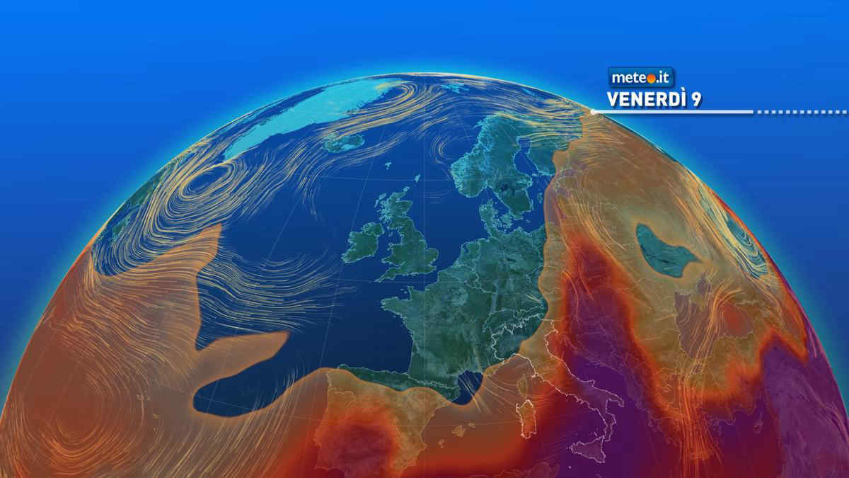 Meteo, caldo intenso in attenuazione, entro sabato 10 anche al Sud