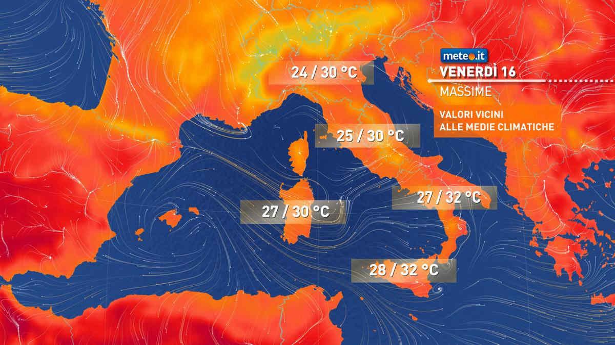 Meteo, giovedì 15 tempo ancora instabile al Nord e temperature in calo al Sud
