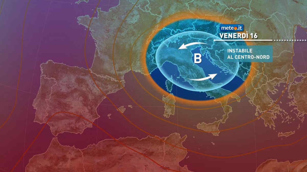 Meteo, nel weekend del 17 e 18 luglio tempo instabile e temperature in calo al Centro-Sud