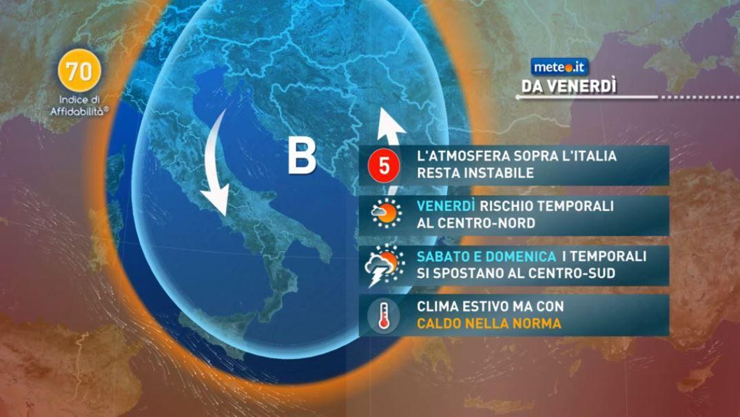 Meteo, 16 luglio temporali in estensione anche al Centro Italia