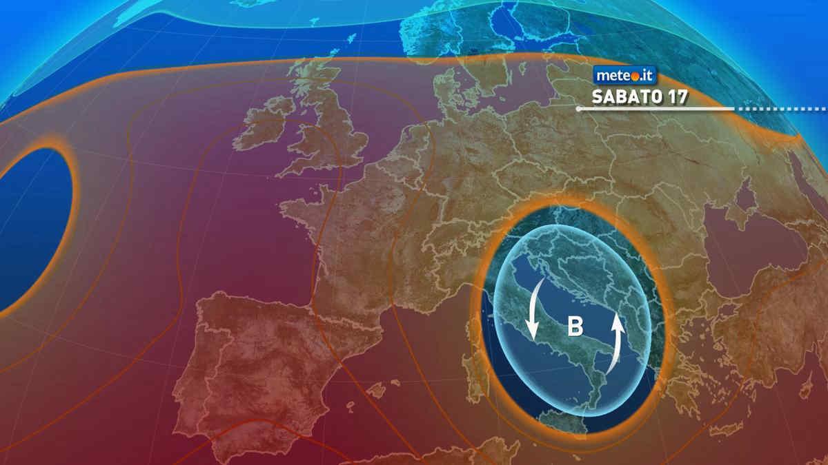 Meteo, weekend del 17-18 luglio instabile al Centro-sud