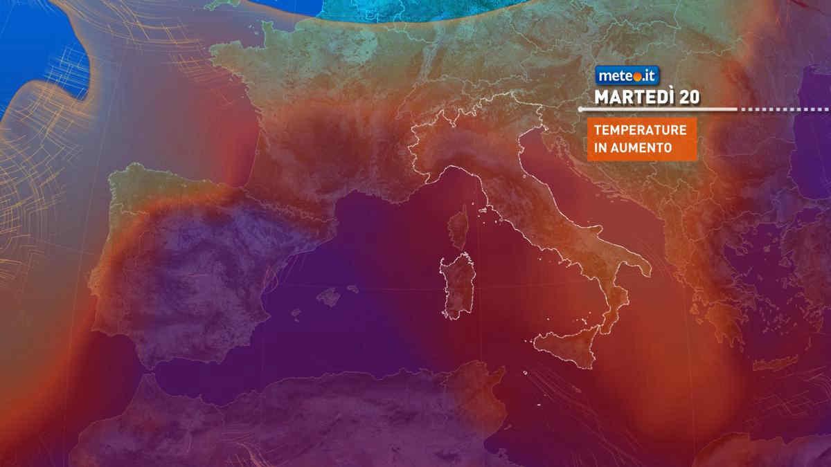 Meteo, dal 20 luglio alta pressione e tempo più stabile