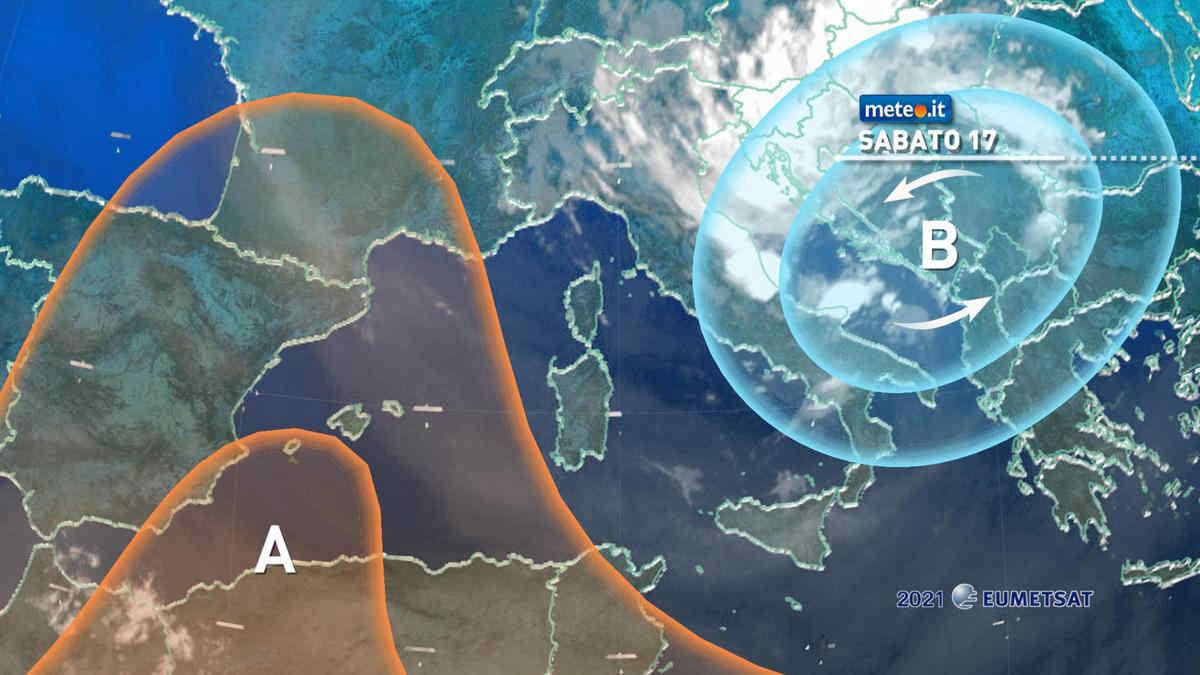 Meteo, 17 luglio fresco e instabile al Centro-sud: rischio temporali