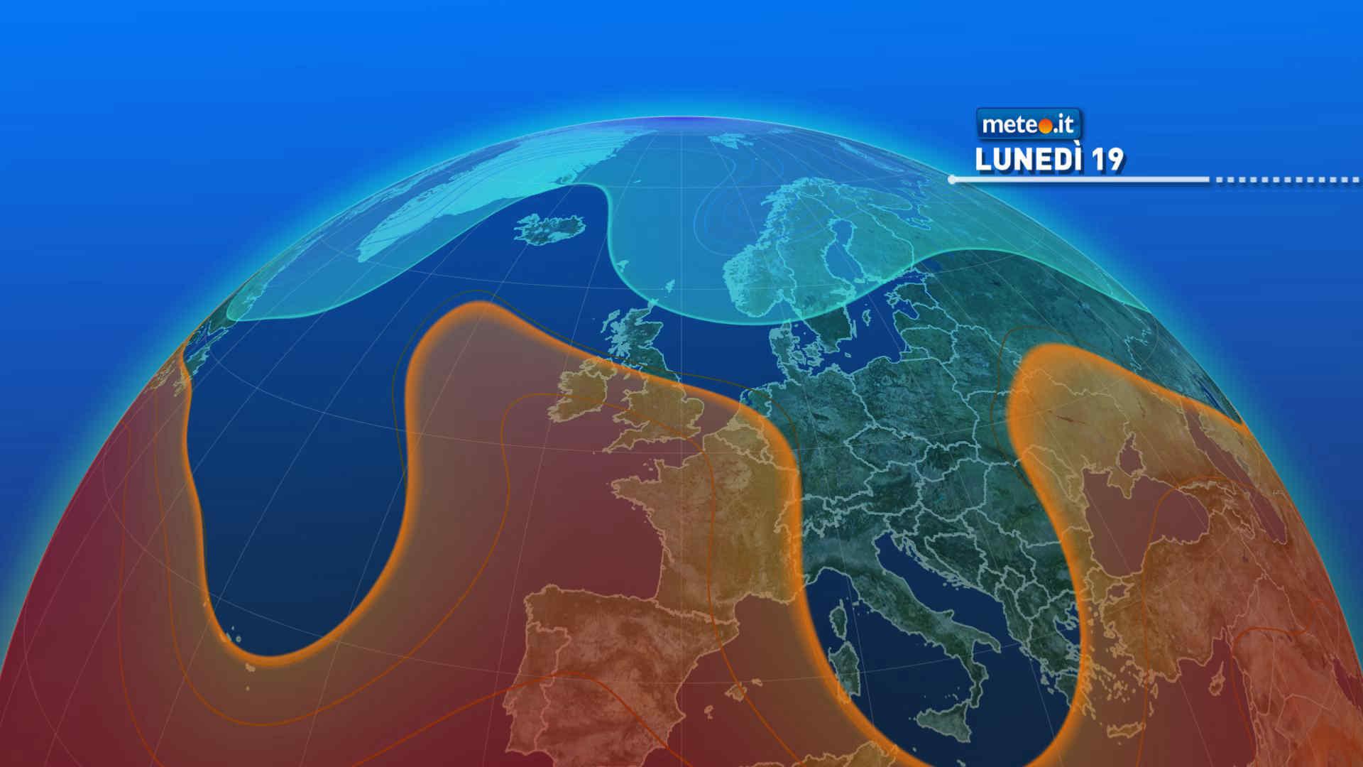 Meteo, lunedì 19 luglio residua instabilità al Centro-Sud