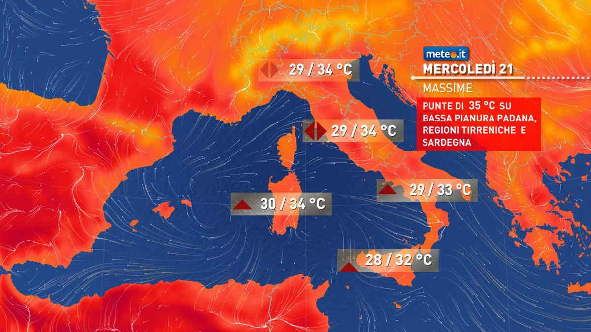 Meteo, oggi giovedì 22 luglio, prevalenza di sole e qualche temporale al Nord
