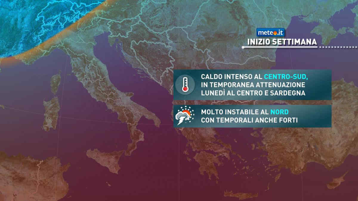 Meteo, rischio di forti temporali al Nord fino a martedì 27