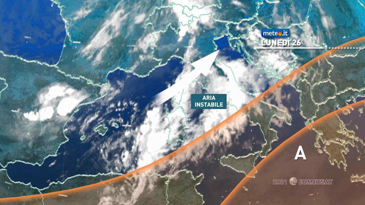Meteo, 26 e 27 luglio Italia divisa tra forti temporali e gran caldo