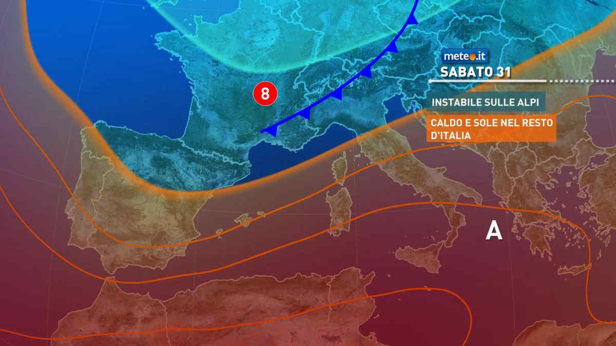 Meteo, nuovi temporali in arrivo nel weekend tra il 31 luglio e il 1 agosto