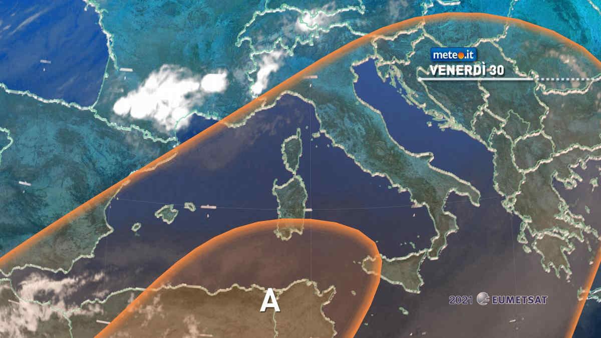 Meteo, venerdì 30 Italia nella morsa del caldo intenso, ma al Nord tornano i temporali