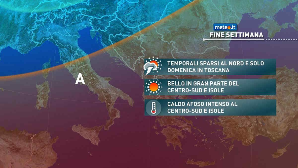 Meteo, tra sabato 31 e domenica 1 rischio di forti temporali al Nord e su parte del Centro