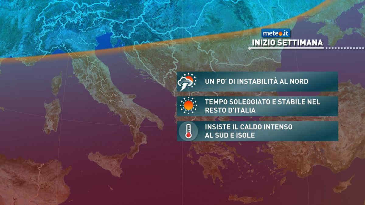 Meteo, anche la prima settimana di agosto si apre con tempo variabile al Nord e caldo intenso al Sud