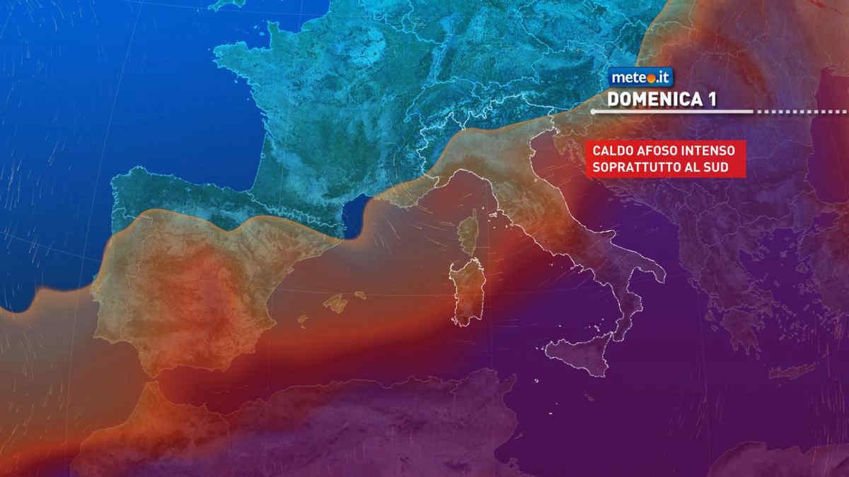 Meteo 1 agosto: forti temporali al Nord, caldo africano al Sud