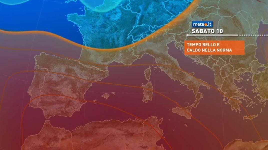 Meteo, da venerdì 9 caldo e instabilità in attenuazione