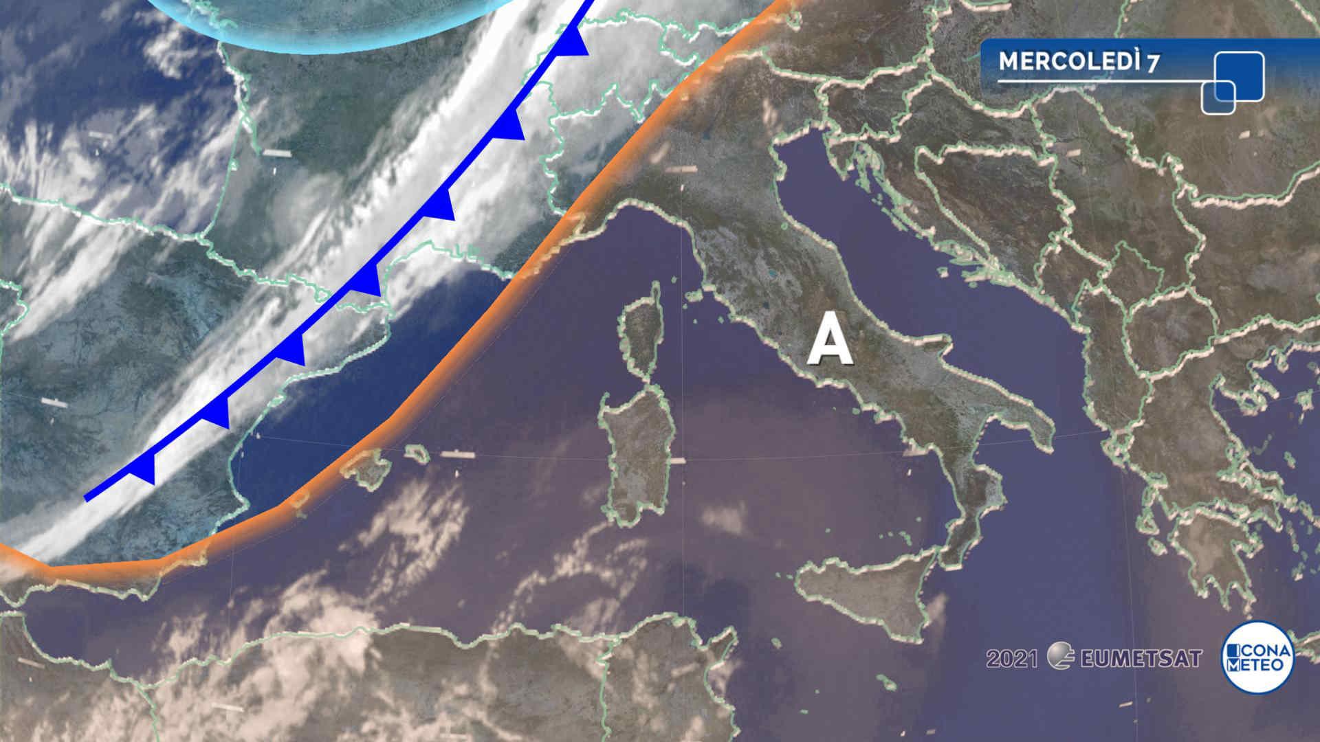 Meteo, 7 e 8 luglio con caldo intenso al Centro-Sud e forti temporali al Nord