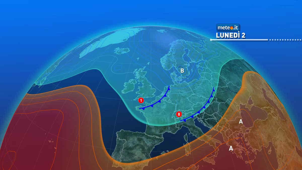 Meteo 2 agosto: ancora rischio temporali su parte del Centro-Nord