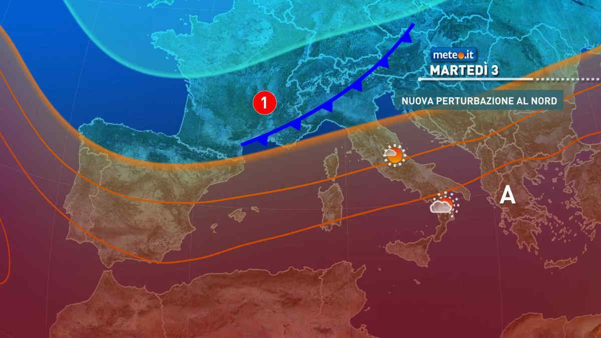 Meteo, tra il 3 e 4 agosto nuove fasi temporalesche al Nord