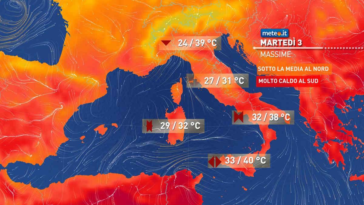 Meteo, martedì 3 nuovi temporali al Nord, ancora caldo intenso al Sud