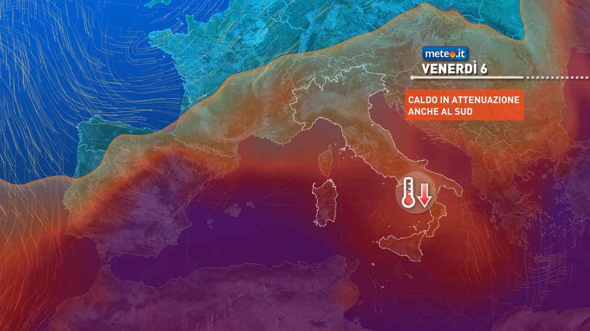 Meteo, da giovedì 5 fine del gran caldo al Sud