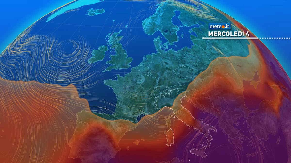Meteo, mercoledì 4 nuovo peggioramento al Nord con rischio di forti temporali