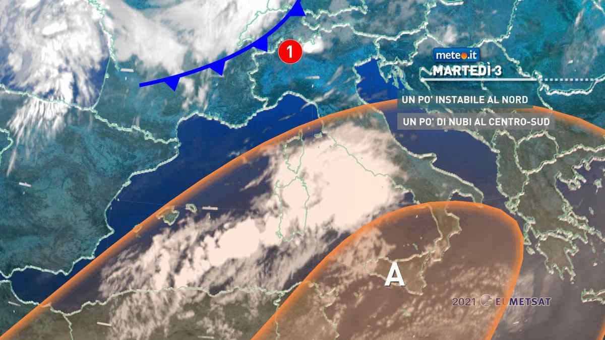 Meteo, Italia divisa in due fino a giovedì 5: temporali al Nord, caldo intenso al Sud