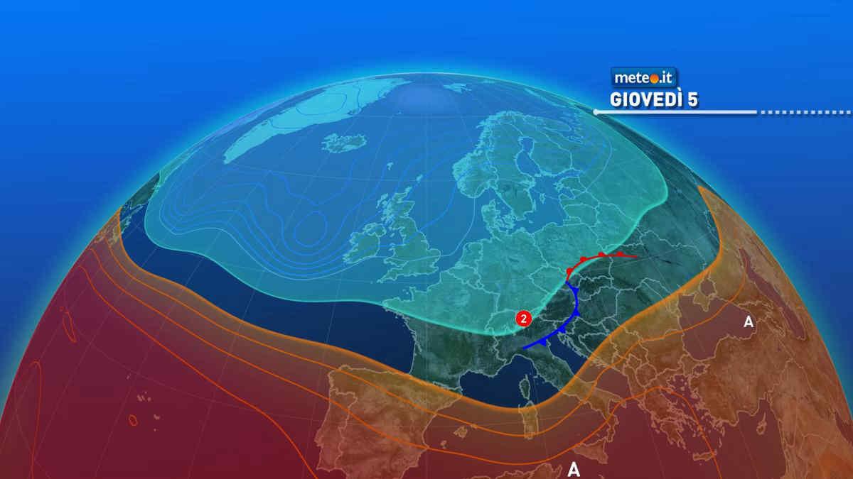 Meteo, tra il 5 e 6 agosto breve tregua dal grande caldo al Sud