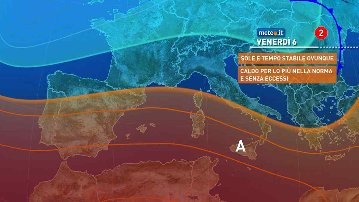 Meteo, 6 agosto con sole e caldo senza eccessi sull'Italia