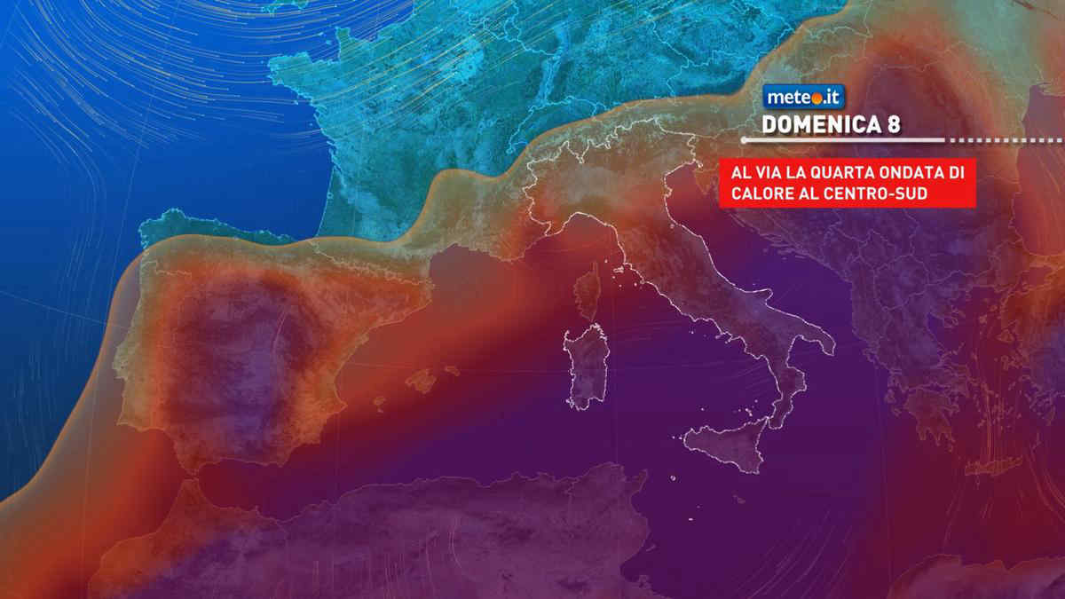 Meteo, Italia divisa in due anche nel weekend del 7 e 8 agosto